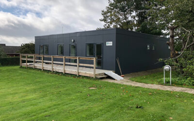 Autismecenter med værelser i modulbyggeri