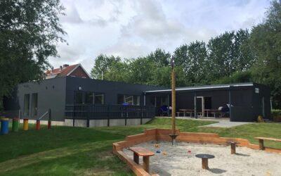 Tilbygning i pavilloner til vuggestue