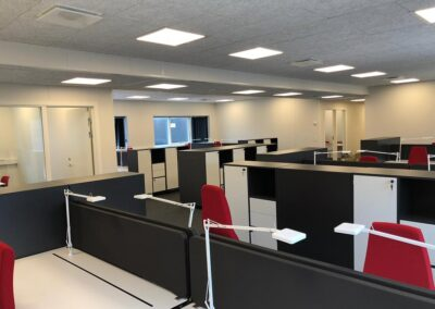Pavilloner til ny administrationsbygning med kontor og velfærd