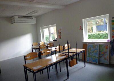 Undervisningspavillon med ensidig tagrejsning