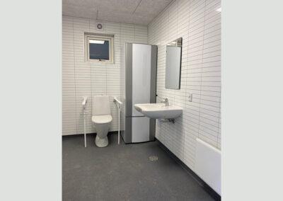 Moderne toiletmodul med separate baderum