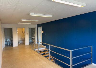 Pavillonbygning 872m² - 2 etager med indvendig trappe