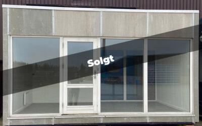 Modulbygning 15m² – facade med vinduesparti
