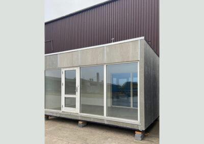 Modulbyging 15m² - facade med vinduesparti