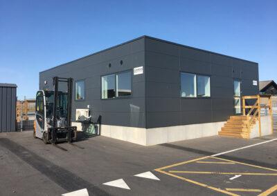 Topmoderne ekspeditionskontor for en af Danmarks største byggevareproducenter: Modulbygning – 120 m2