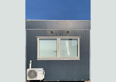Modulbygning 43m² - 2 lokaler med godt lysindfald